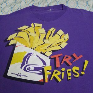 Vintage Taco Bell T Shirt French Fries Snack Food